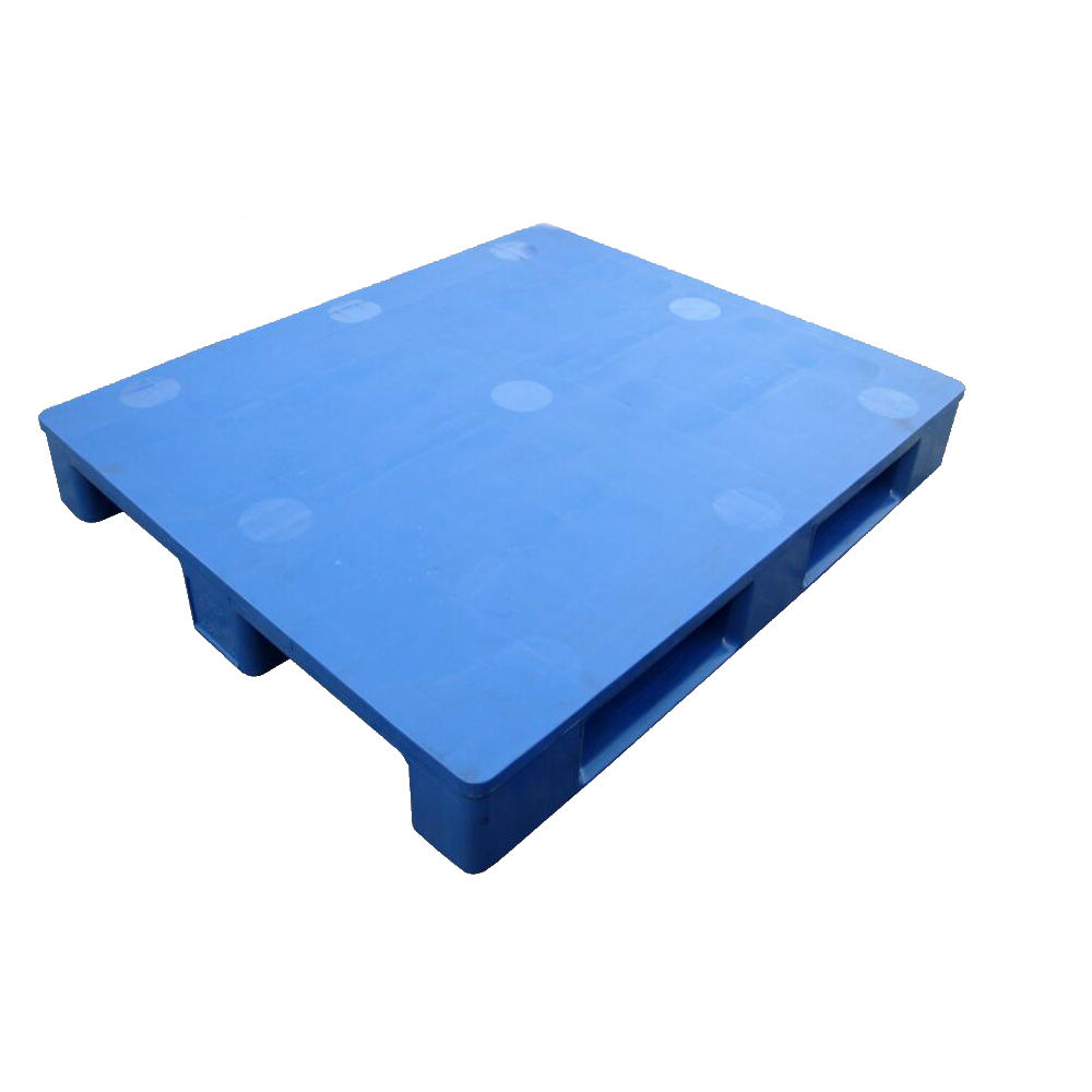 4 way Heavy duty single faced closed plastic pallet price with steel