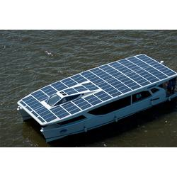 12.4KW solar boat with high efficiency flexible solar panels
