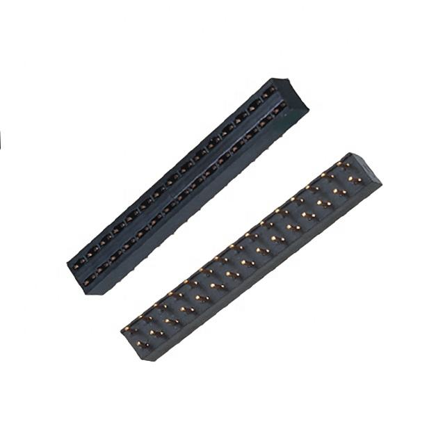 Plastik <span class=keywords><strong>Tinggi</strong></span> 3.5Mm Solder Double Row 2 ~ 80P 2.54Mm Female Header