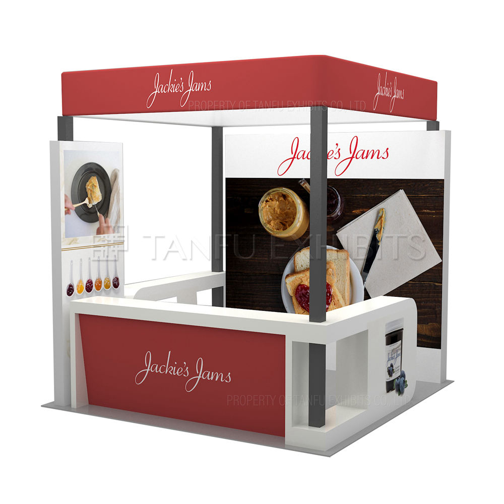 20x20 Trade Show Display Booth Exhibition Stall Design