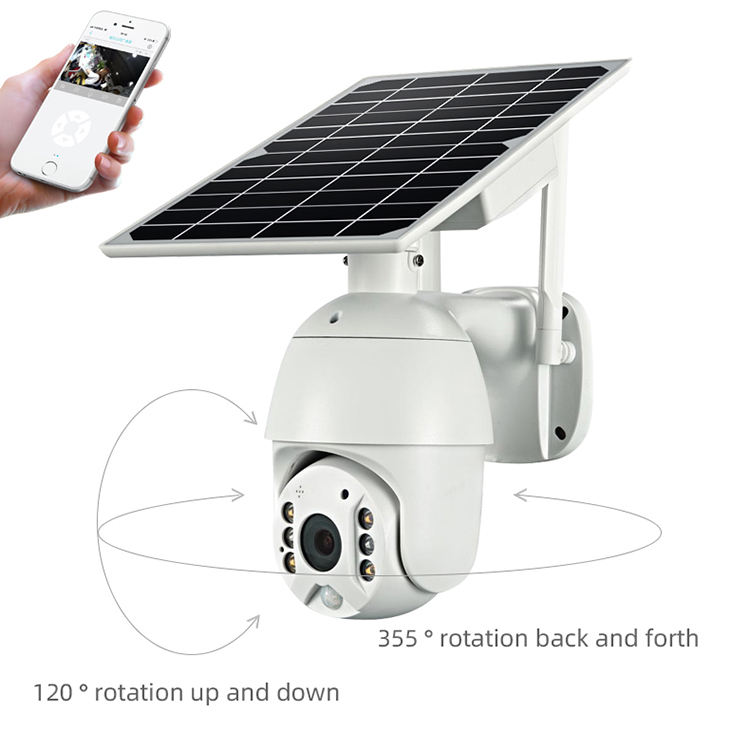 1080P Low Powered Starlight Outdoor Wireless Security Solar PTZ WiFi CCTV Camera