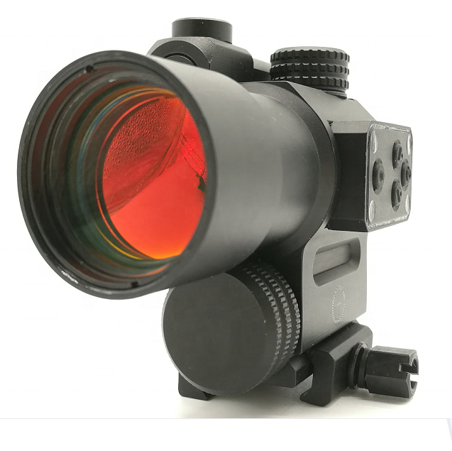 Heavy duty hunting rifle red dot scope met laser sight