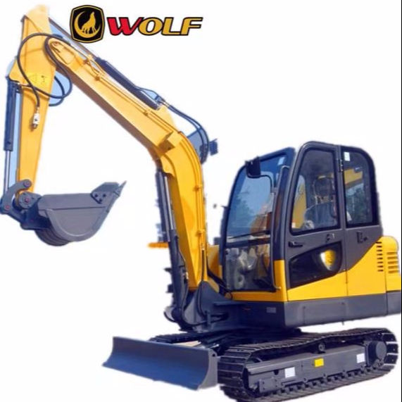 Super quality cheap price wolf 4.5t compact crawlermini excavator with bucket thumb