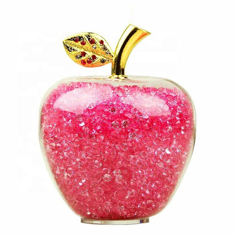 Christmas decoration apple wholesale decorative glass apple paperweight ornament