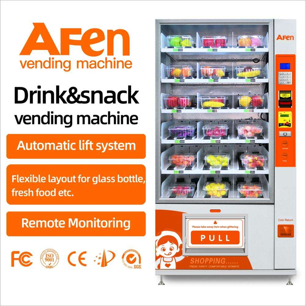 AFEN display front vendor vending sweet corn sausage vending machine with lift automatic