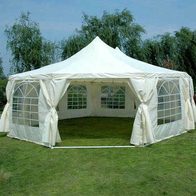 Wind resistant luxury big outdoor pvc party tent with floor ,china big permanent party tent pvc