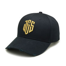 Hot Retro Baseball Caps Hats For Men Brand Women Snapback Caps Washed Bone Men Hat Gold Letter Black Cap