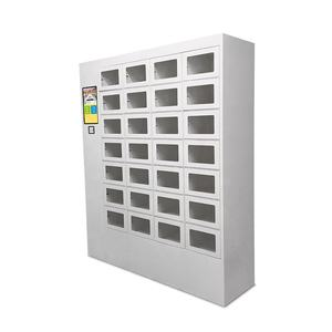Touch screen QR pin code pickup/put food delivery smart electronic locker for Smart restaurant