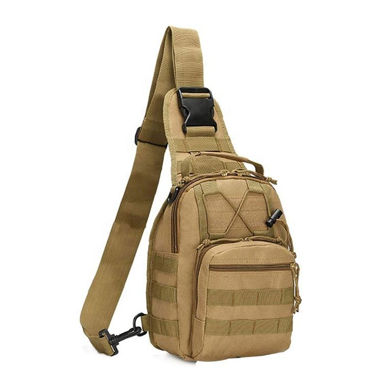Trekking Hiking Molle Military Camouflage Tactical Chest Pouch Camping Shoulder Bag