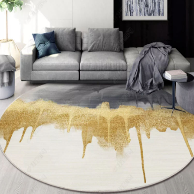 Modern Nordic living room tea table carpets rugs home round