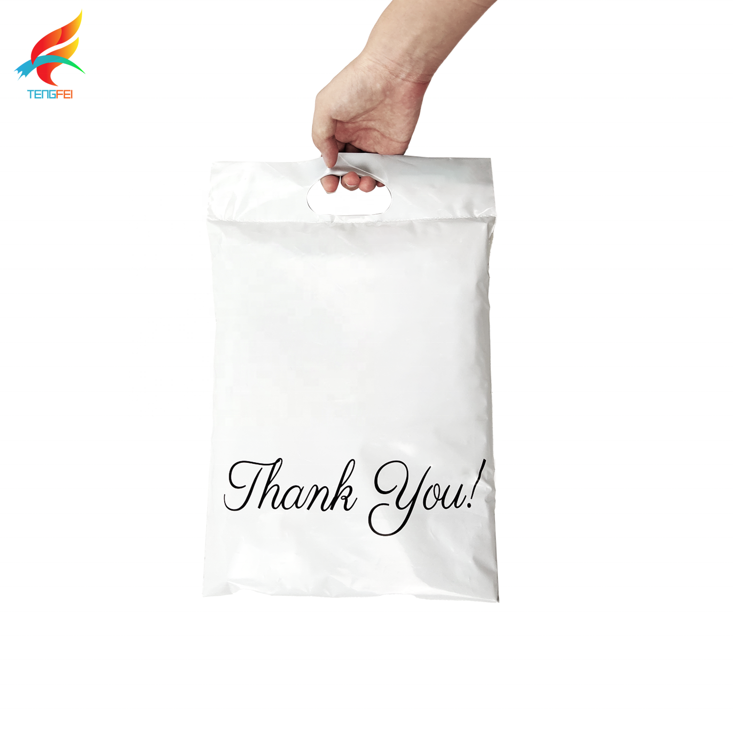 Retail recyclable logo printed 100% biodegradable PE polymailer plastic mailer no smell with pocket for apparel wigs