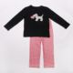 Factory direct sales baby clothes with dog printed wholesale sets children boutique clothes set