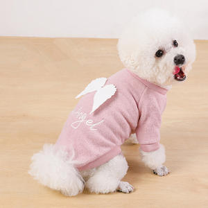 Dog Fresh Ribbon Wings Cute Gentle Angel Cat Clothes Autumn And Winter Dog Cat Clothes