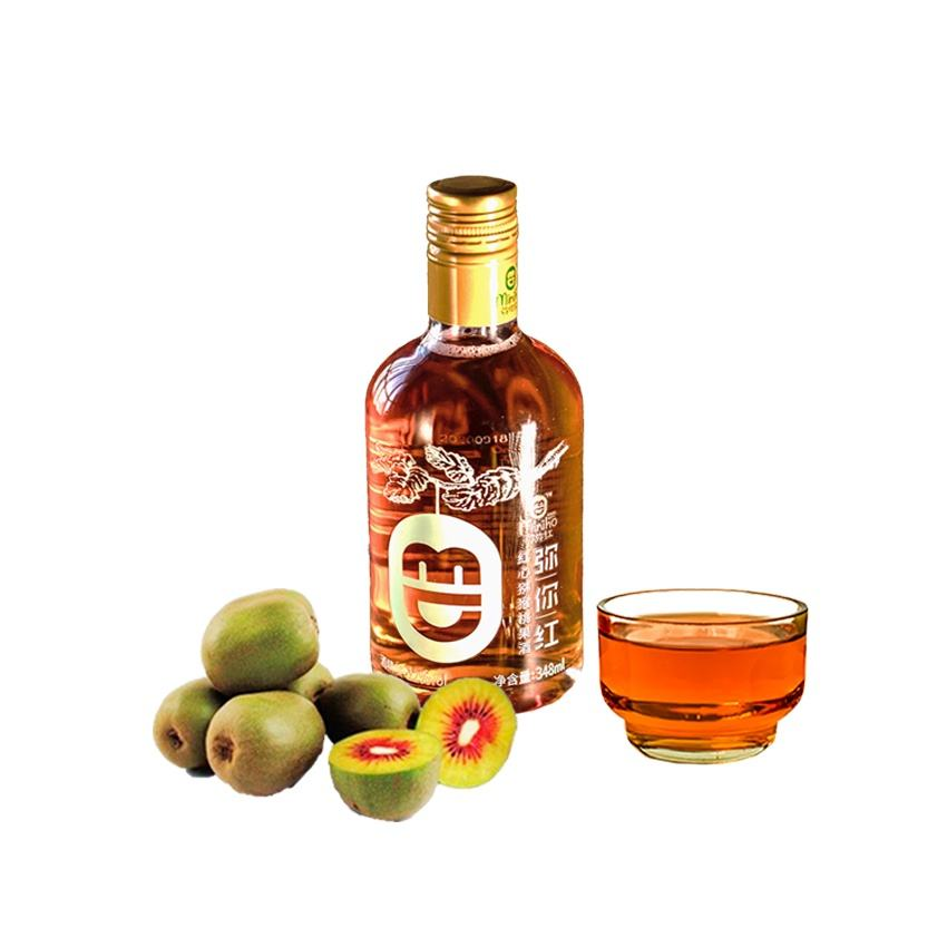 A large number of fresh kiwi fruit wine brewing 348ml elegant bottle packaging, the entrance mellow, refreshing