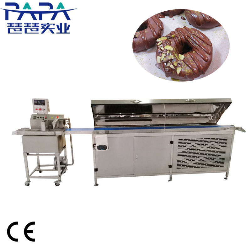 Automatic Mini chocolate coating machine / chocolate covering machine/ small chocolate enrobing line with Cooling Tunnel