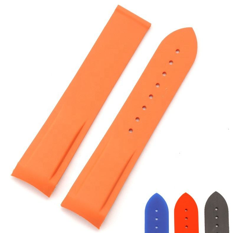 Custom any color sea master watch replacement 20mm silicone watch strap orange speed master rubber watch band