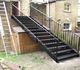 factory direct sale residential iron stairs for outside prices