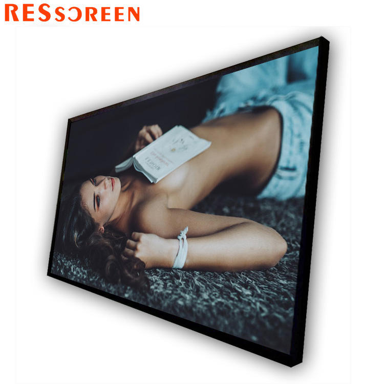 Lcd smart 55 inch android touch screen 10 point IR wall mount totem