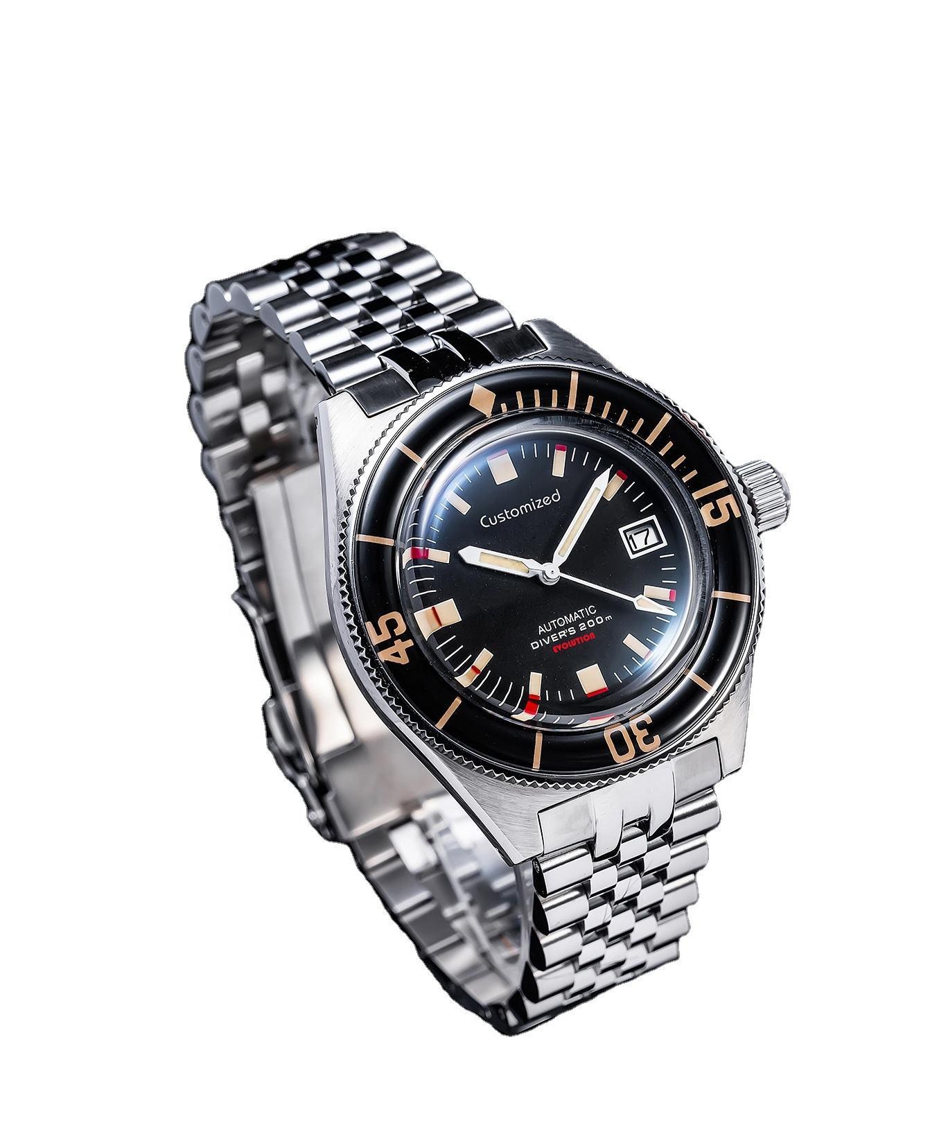 High-quality 50 Fathoms Style Divers Automatic Watch Sapphire Luminous Bezel 20ATM Marine Wrist Watch