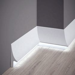 Easy Install Flooring Accessory White PS  Baseboard Led Stri