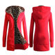 Female Women Winter Coat Thickening Cotton Winter Hooded Jacket