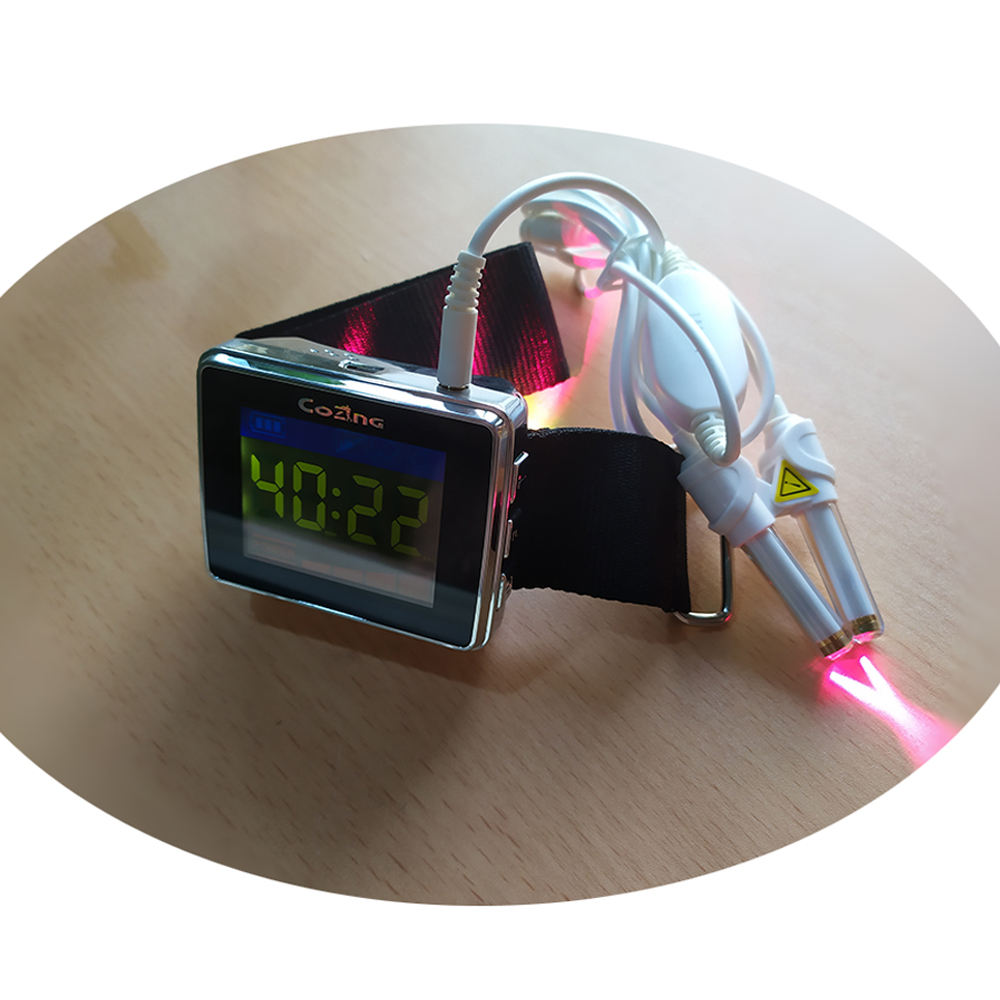 New Invention In China 650Nm / 532Nm / 450Nm / 589Nm Dr And Home Use Cold Laser Therapy Watch