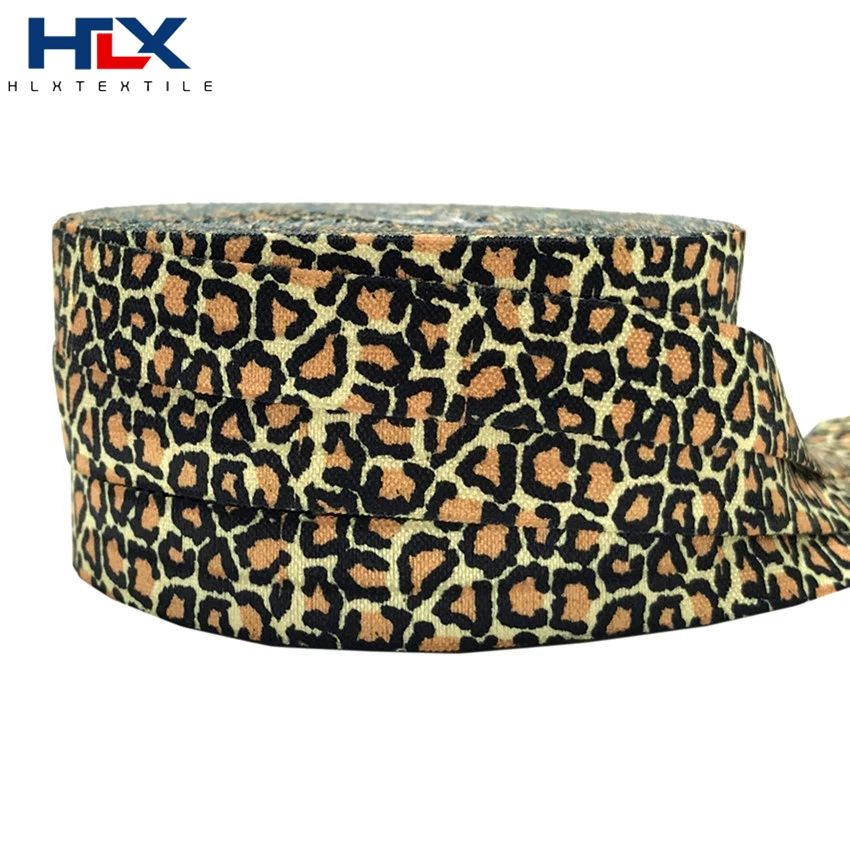 HLX Leopard print elastic band sport Rubber band DIY trouser waist round elastic rope belt clothing accessories