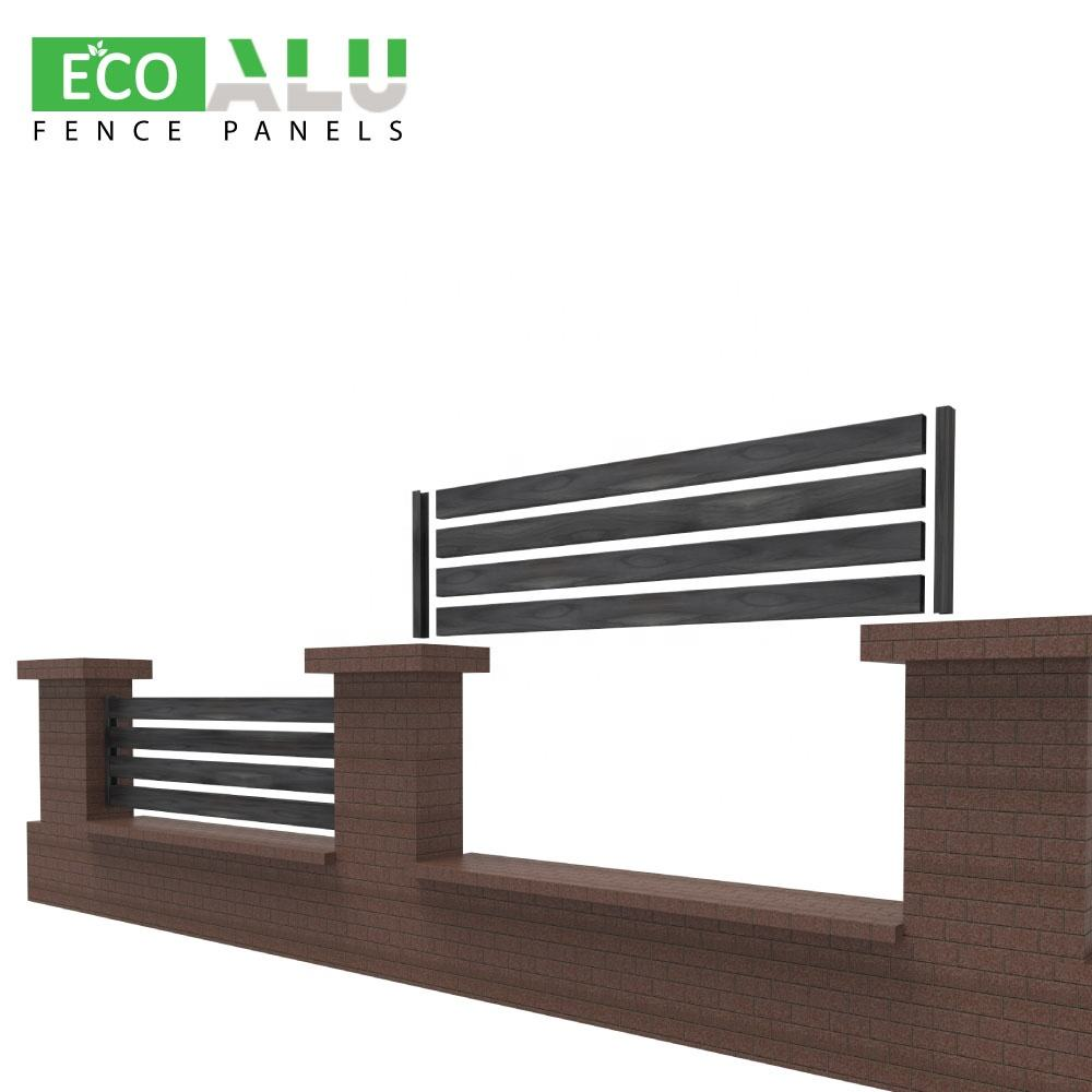 ECO aluminium black mini garden 2d laser cut home australia 6x8 8x8 privacy system poland accordion temporary fence panels
