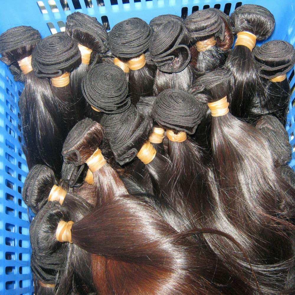 Pretty proper Wholesale Peruvian Straight virgin Human Hair cuticle aligned bundle Price 10A Natural oil hair