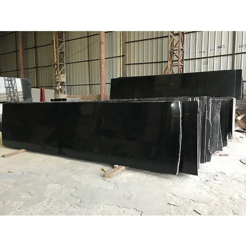 china exterior granite stone cutting floor tiles G633 black galaxy granite slab kitchen countertop
