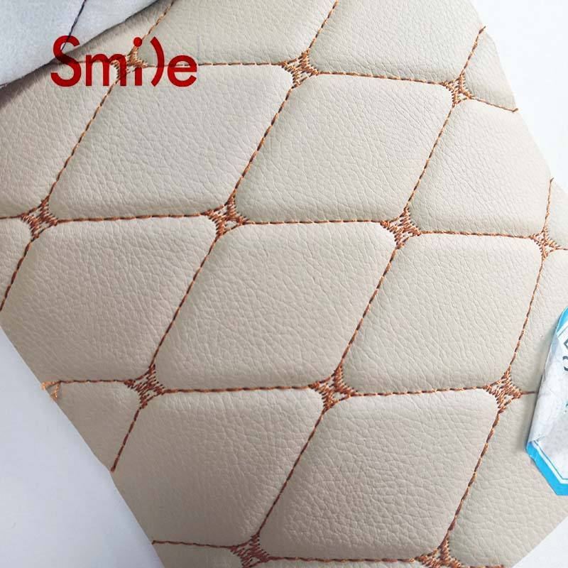 Wholesale Embroidery Faux Leather PVC Leather For Car Interior Upholstery