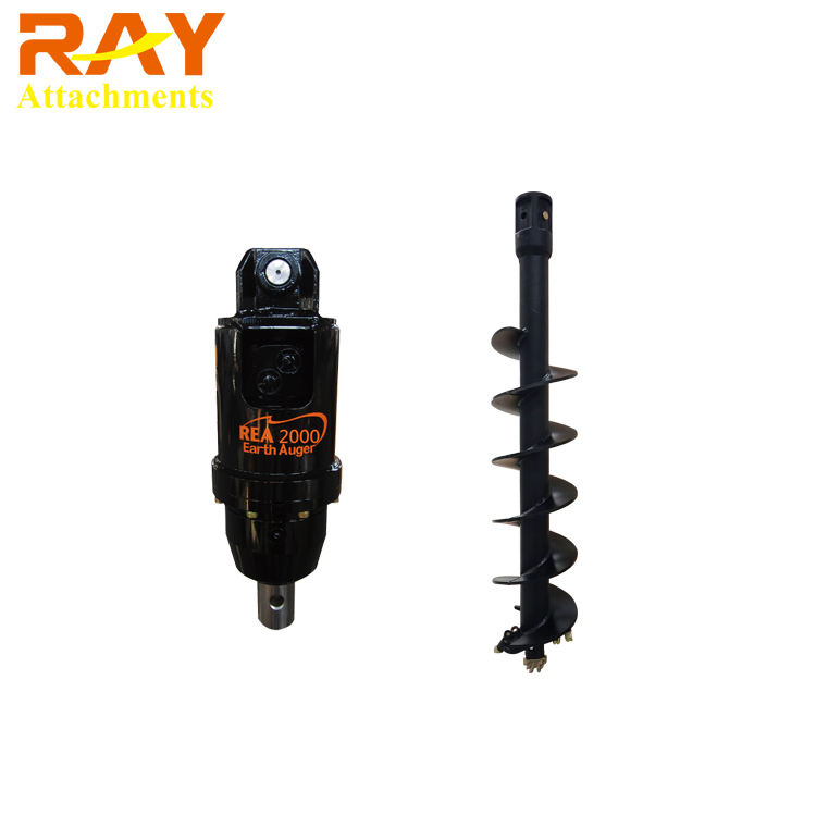 Excavator Mounted Ground Hole Auger Post Hole Digger Earth Drilling Machine For Sale