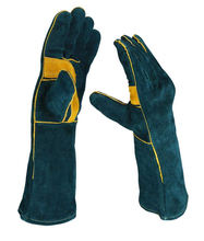Handing workshop Welding Gloves Cow Split Leather Camping Cooking Weld Gloves Baking Grill Gloves