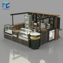 Solid wood mall coffee kiosk design / juice bar / bubble tea kiosk for shopping mall