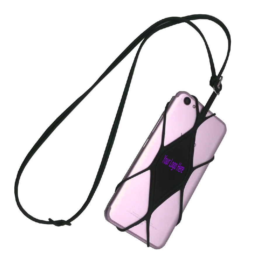 Wholesale Hot phone silicone pouch tie sling holder lanyard