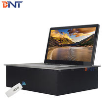 Paperless conference system electric remote control desk computer monitor lift