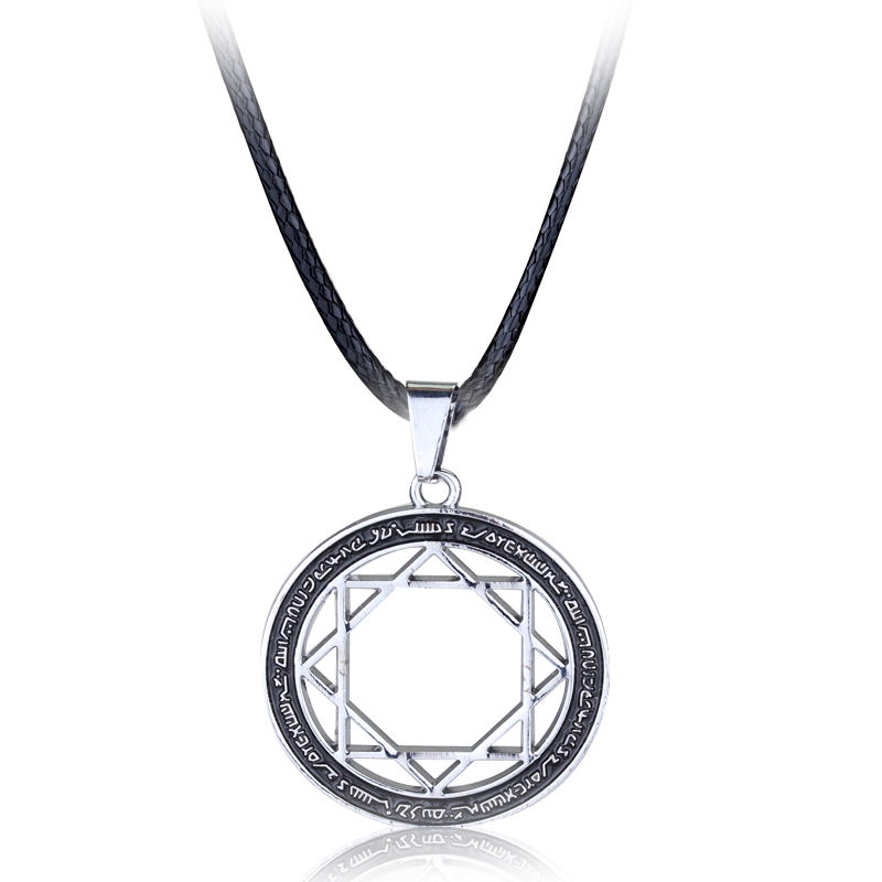 Anime The Labyrinth Of Magic Flute MAGI Eight Star Array Circle Symble Charm Cosplay Jewelry Necklace