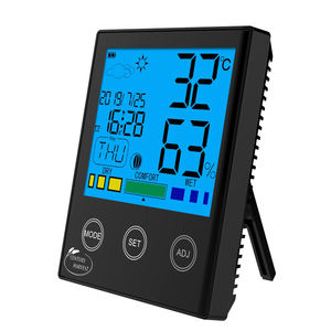 CH-909 Digital Temperature Humidity controller Electronic Thermometer Hygrometer with Weather Station Alarm Clock