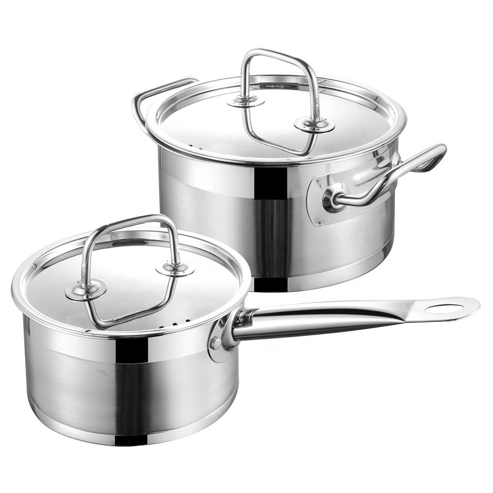 Wholesale 304 Steel Stainless Salad Master Pot Induction Non Stick Cooking Wares Casserole Kitchen Cookware Set