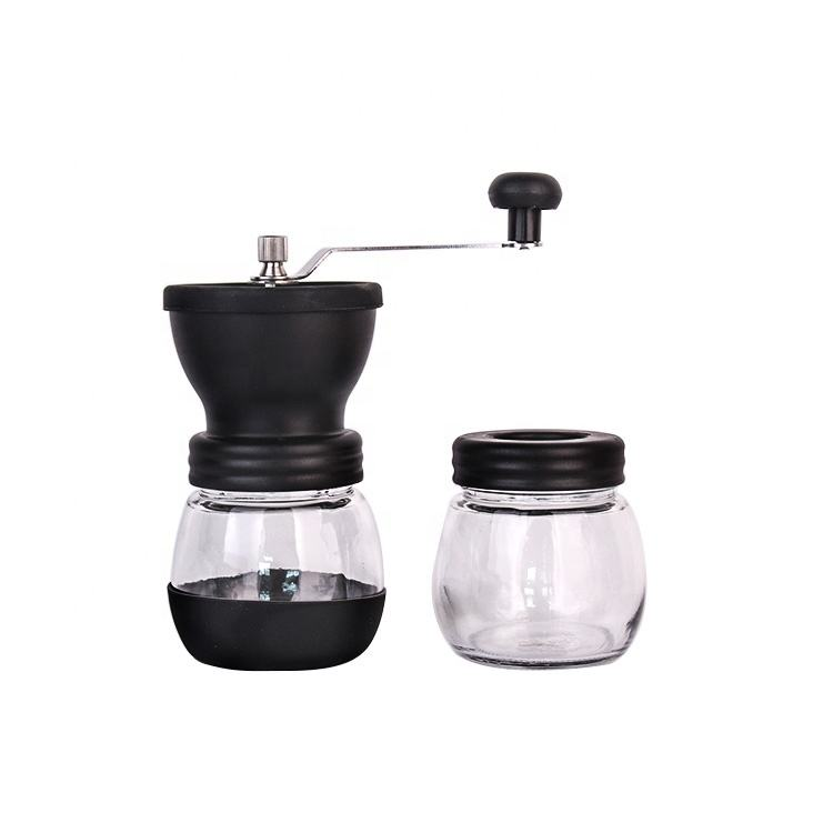 Hot Selling delicate manual coffee grinder with glass jar