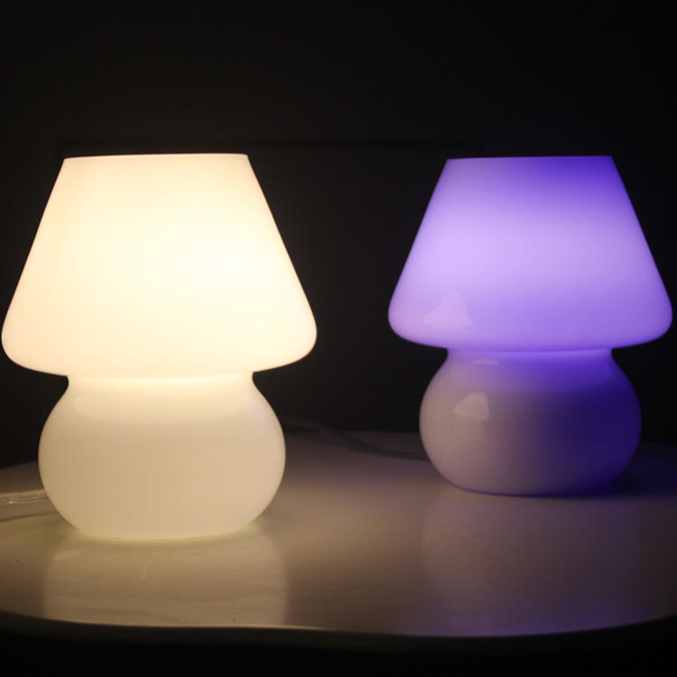 white glass table lamp cover for Mushroom Lamp