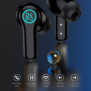 Black Mini Portable Blue Tooth Earphone Earpiece LED Display Waterproof TWS Wireless Earbuds Earphones