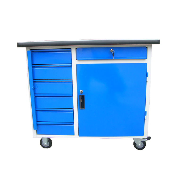 multi-functional moving heavy duty garage tool cabinet / work bench (steel locked & Draw-out)