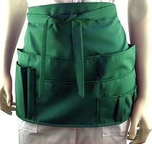 7 pocket half apron green tools For kitchen, hobby, gardening, sewing work apron