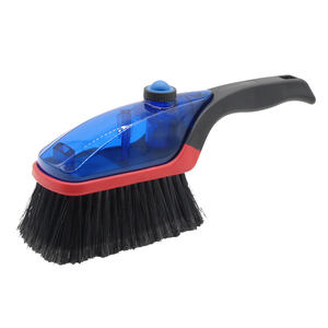 Tire cleaning brush with soap and water reservoir car wheel brush