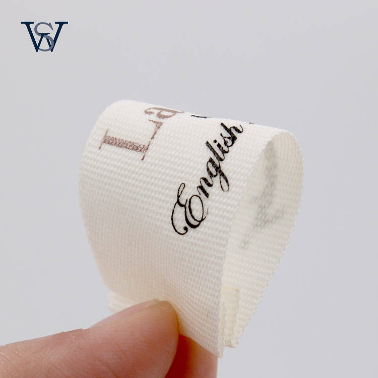 Custom Printed Soft 100% Organic Cotton Labels Clothing Main Care Label For Garments And Hats