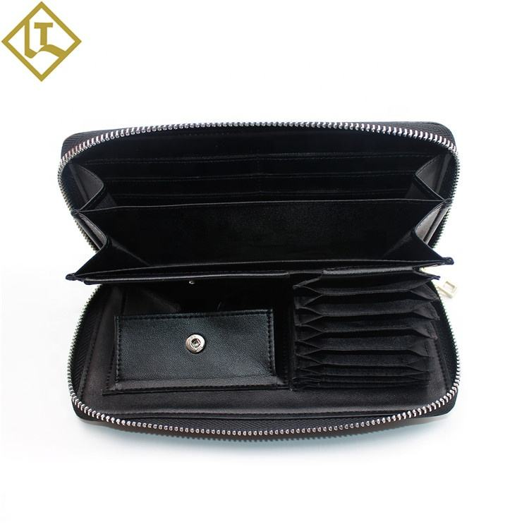 New Style best branded Design wallet RFID blocking Handbag Leather long Purse with button