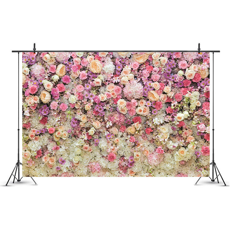 Nicro 7*5Ft Collapsible Fiber Photography Studio Wedding Stage Background Backdrop Decoration