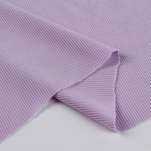 Custom high quality plain dyed thin ribbing 100 polyester spandex kint rib purple fabric