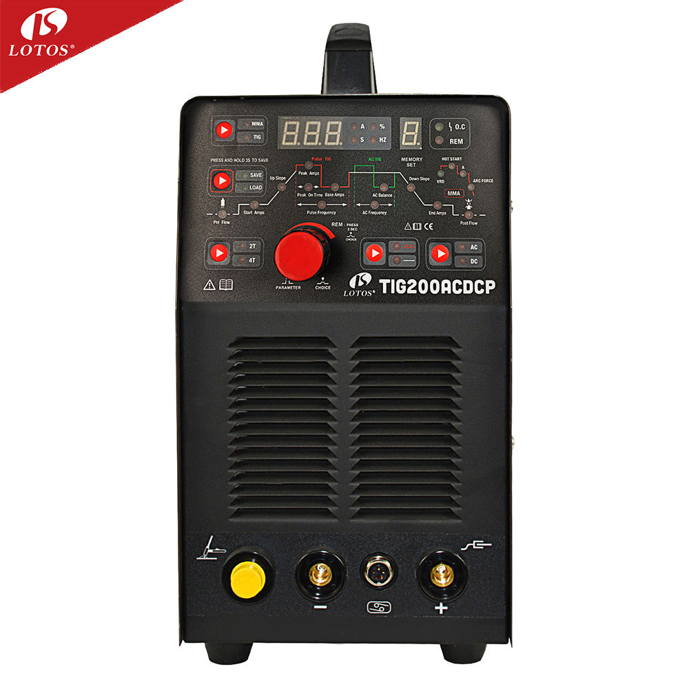 Lotos inverter ac dc welding tig inverter 200a 110v 220v aluminum welder tig mma pulse welding machine tig ac dc